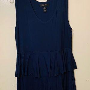 Navy Blue Ruffle Dress